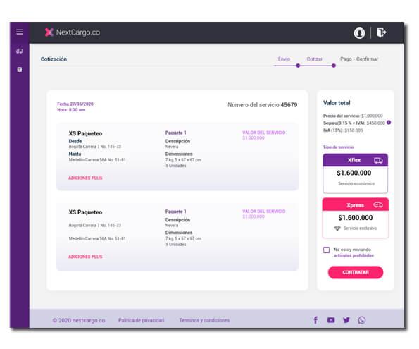 Plataforma envios online